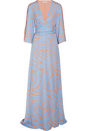 Francesca printed silk-georgette maxi dress