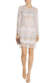 Issa Rosemary embellished lace and organza dress