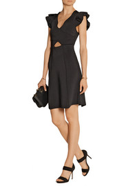 Issa Eden ruffled tech-jersey dress