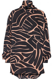 Jenny printed silk-georgette blouse