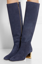 Emilio Pucci Suede knee boots