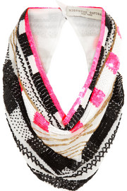 Finds + Mignonne Gavigan embellished silk-chiffon scarf necklace