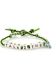 Talk To The Hand ceramic and gunmetal-plated bracelet