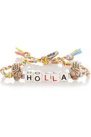 Holla ceramic and silver-plated bracelet