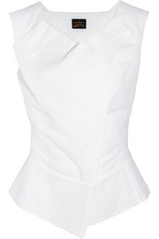 Ocean broderie anglaise cotton top