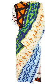 Harp printed crepe dress