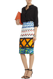 Vivienne Westwood Anglomania Paradise printed stretch-cotton drill skirt