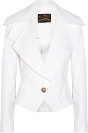 Resort stretch-cotton blazer
