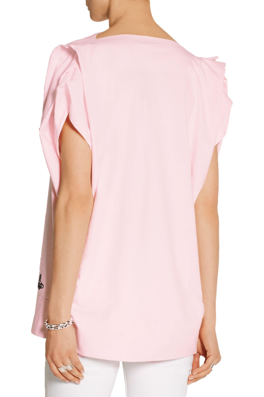 Vivienne Westwood Anglomania Foil-print cotton-jersey T-shirt