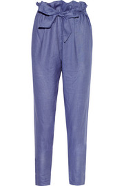 New Kung Fu linen tapered pants