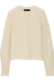 The Row Finn ribbed cashmere and silk-blend sweater