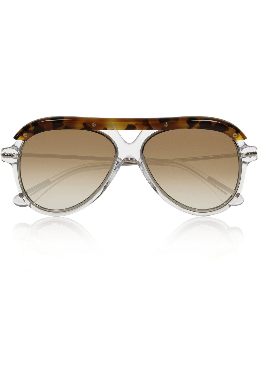 Roland Mouret Hudson aviator-style acetate and metal sunglasses