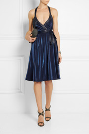 Diane von Furstenberg Natanya metallic jersey wrap dress