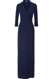 Abigail jersey-crepe wrap maxi dress