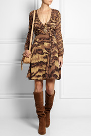 Diane von Furstenberg Kara animal-print silk-jersey and chiffon wrap dress
