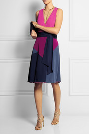 Diane von Furstenberg Sady color-block jersey-crepe wrap dress