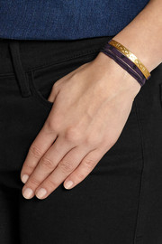 Finds + Cooperative de Creation Monmarte gold-plated and cotton wrap bracelet