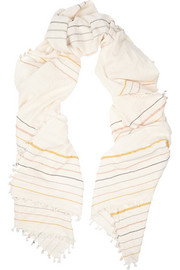 + Heather Taylor woven cotton scarf