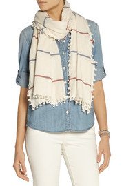 Finds + Heather Taylor embroidered cotton scarf
