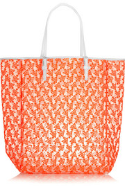 Finds + Duyan Bags embroidered mesh tote