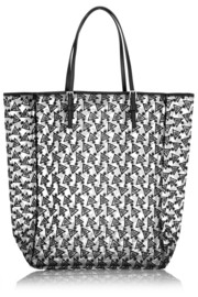 + Duyan Bags embroidered mesh tote