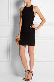 Versus + Anthony Vaccarello embellished stretch-crepe mini dress