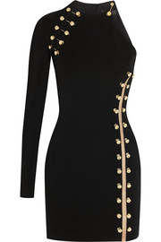 Versus + Anthony Vaccarello embellished stretch-jersey mini dress
