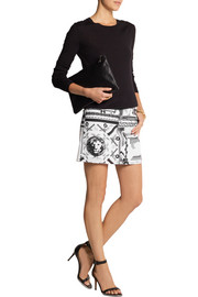 Versus + Anthony Vaccarello printed stretch-cotton twill mini skirt