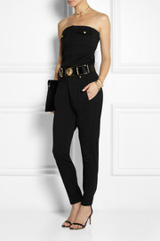 Versus + Anthony Vaccarello strapless wool jumpsuit