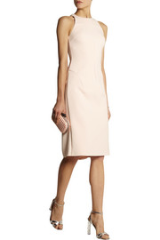 Esteban Cortazar Jersey-paneled stretch-cady dress