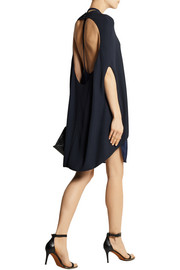 Esteban Cortazar Layered stretch-knit and jersey dress