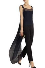 Esteban Cortazar Silk-chiffon wrap top