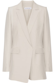 Silk-crepe blazer playsuit