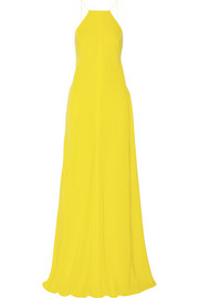 KAUFMANFRANCO Washed-silk halterneck gown