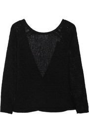 KAUFMANFRANCO Open-knit cashmere and silk-blend sweater