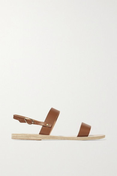 Ancient Greek Sandals - Clio Leather Sandals - Brown