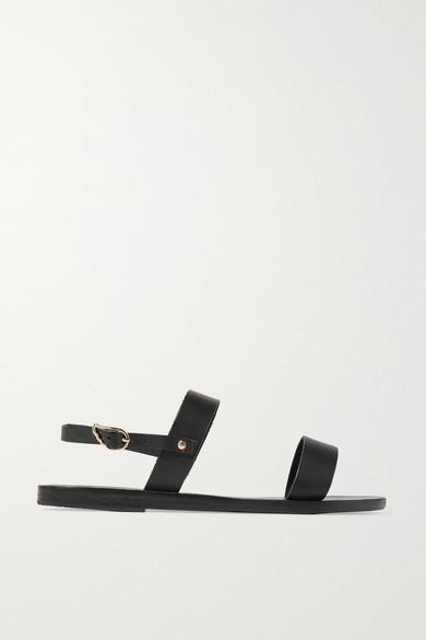 Ancient Greek Sandals - Clio Leather Sandals - Black