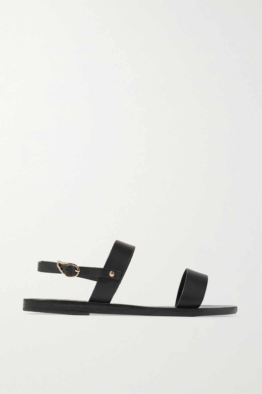 Clio Leather Sandals, Ancient Greek Sandals, Black, Women's US Size: 10.5, Size: 41