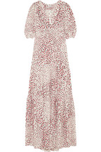 Yvette printed silk-crepe maxi dress
