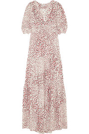 Vilshenko Yvette printed silk-crepe maxi dress