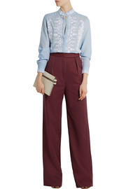 Vilshenko Lydia cotton and silk-blend wide-leg pants