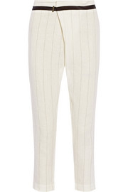 Corinth pinstriped linen tapered pants