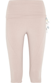 Wave cropped stretch-jersey leggings