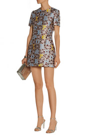 JQ Blo silk-blend jacquard mini dress