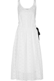 San Gallo eyelet-cotton dress