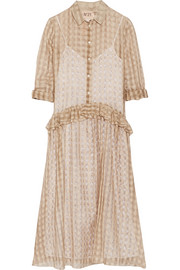 No. 21 Gingham cotton and silk-blend muslin dress