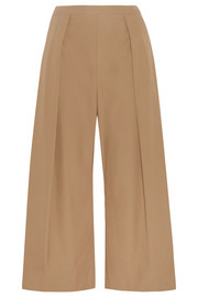 Pleated cotton culottes