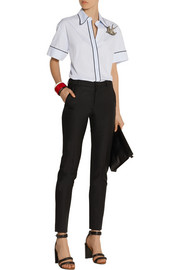 No. 21 Embellished cotton-poplin shirt