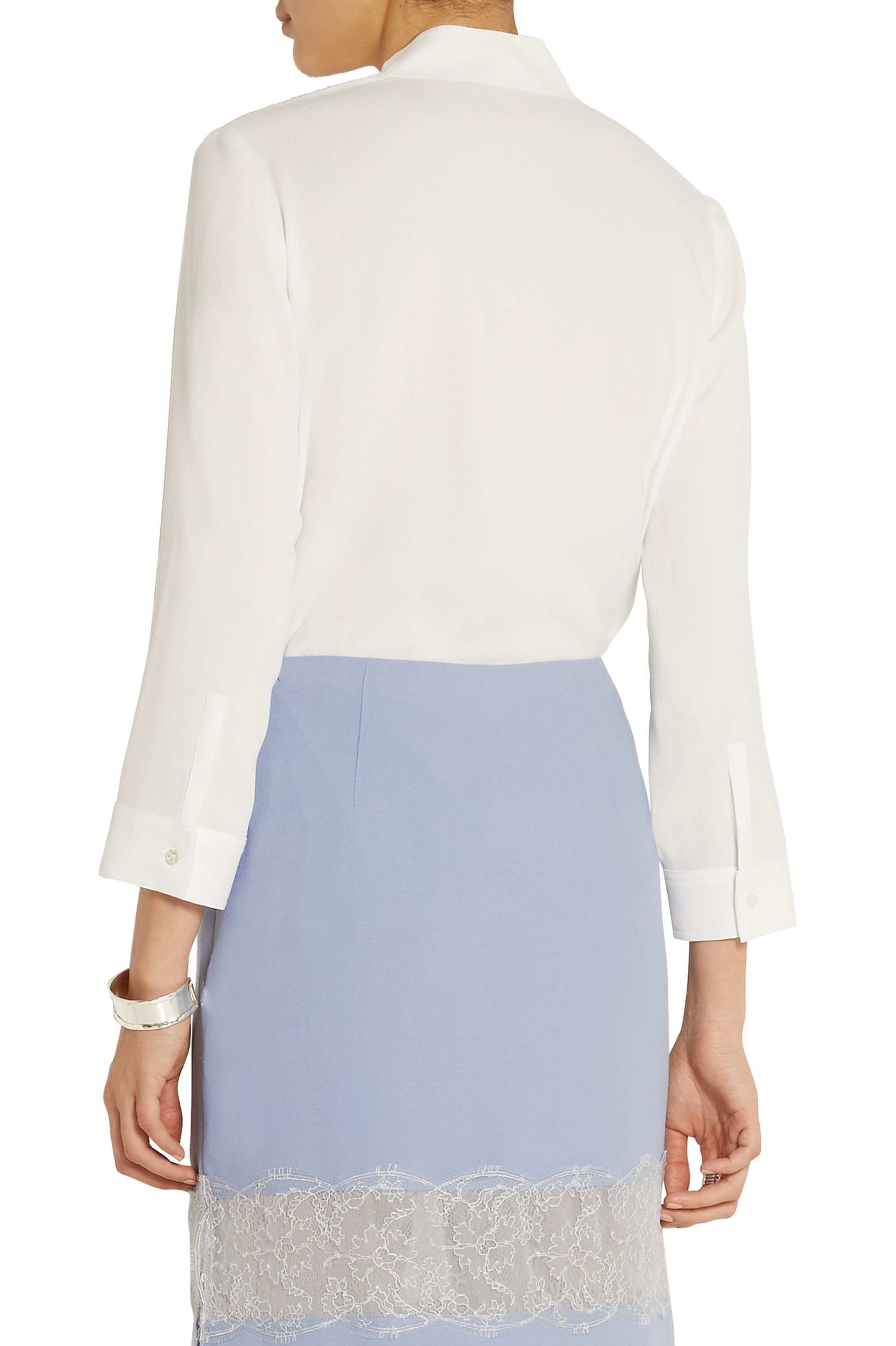 Wes Gordon Wrap-effect crepe blouse