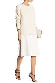 Wes Gordon Ribbed cotton and silk-blend sweater